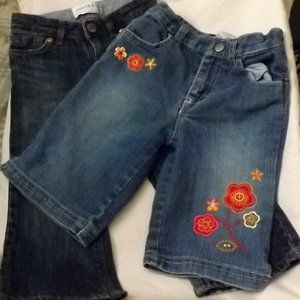A Pair of Toddler Girls' Jeans and Capris